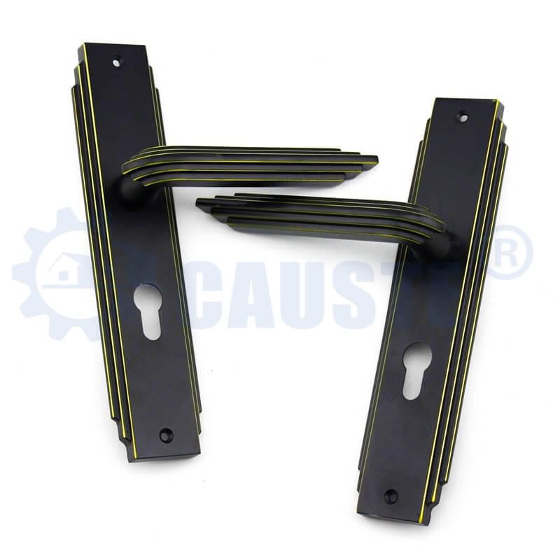 Black Zinc Alloy Door Locks With Single Handle Bedroom Interior Door Handle Lock Cylinder Security Locks