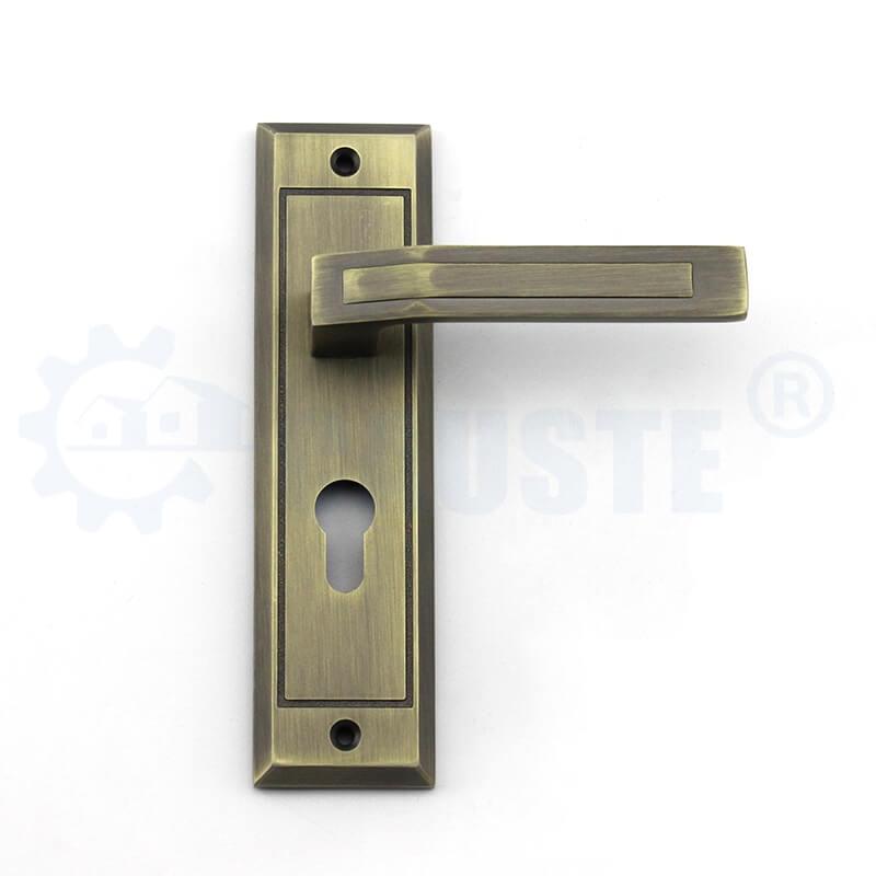 Antique Brass Zinc Alloy Home Room Door Lock Handle
