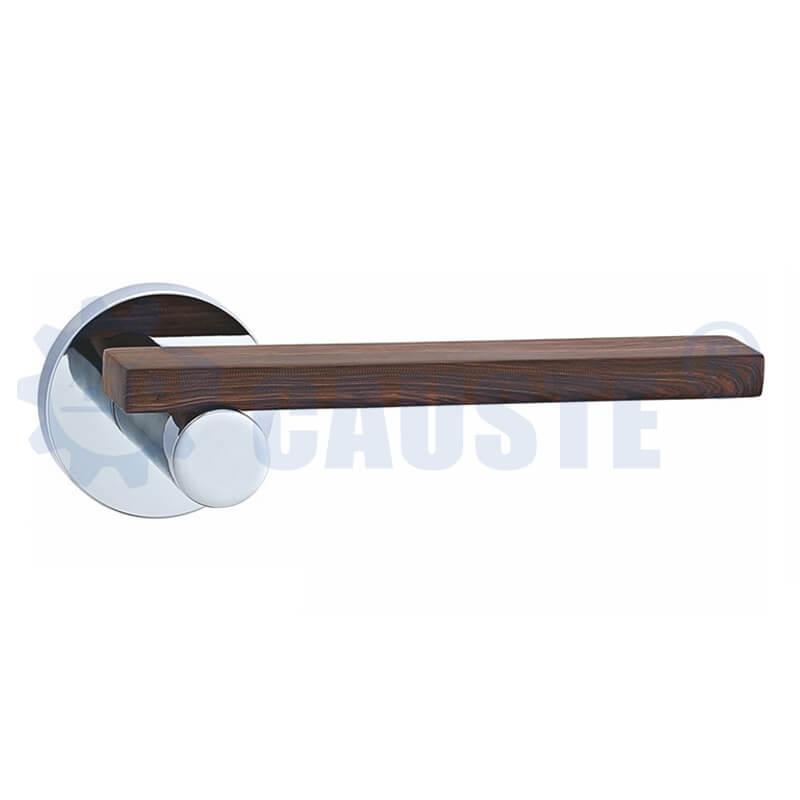 Russia zinc alloy satin nickel plating rose inner door handle