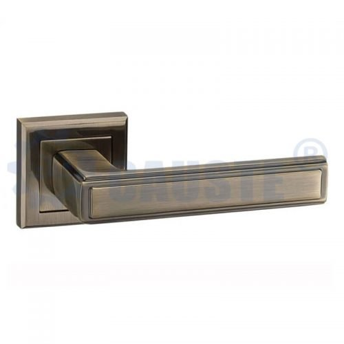 Modern safety wooden lever door handles door handle interior lock
