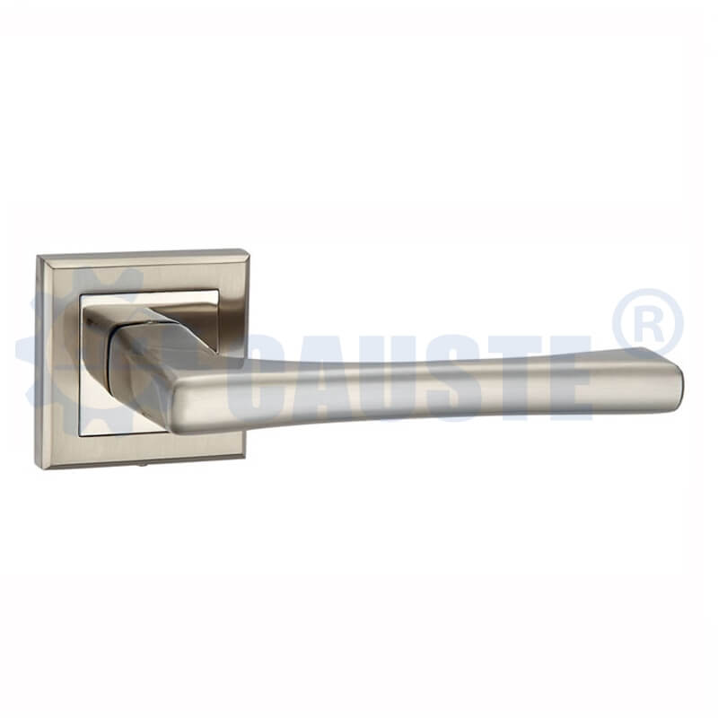 Sliver door handle european style interior lever door lock rosette