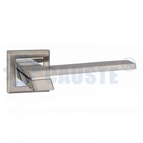 Retro furniture on rosette vanity drawer door handle lever handle