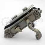 european style double pull antique brass classic zinc alloy door handle lock
