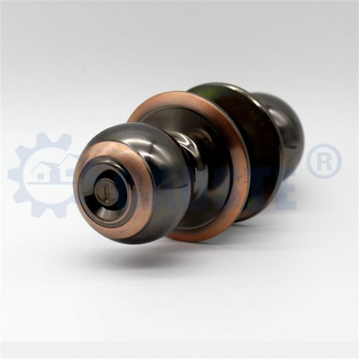 brass cylindrical good quality round knob lock for wooden door