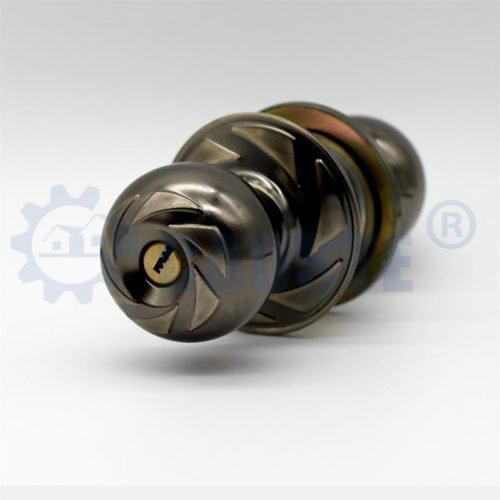 Brass cylinder quality round knob lock for wooden door