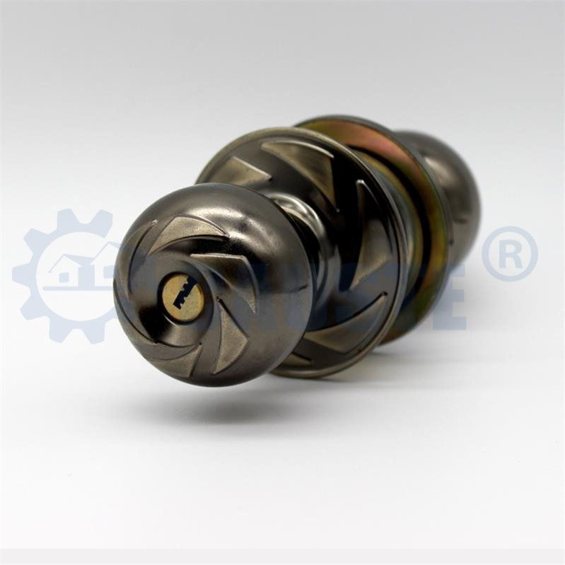 Brass cylinder quality round knob lock for wooden door