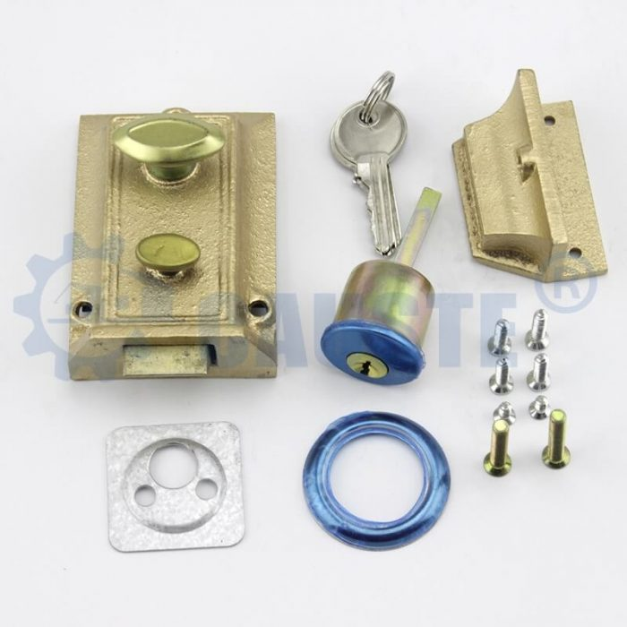 Traditional Style 60mm Night Latch Front Door Latch & Lock Complete with Rim Cylinder and Keys