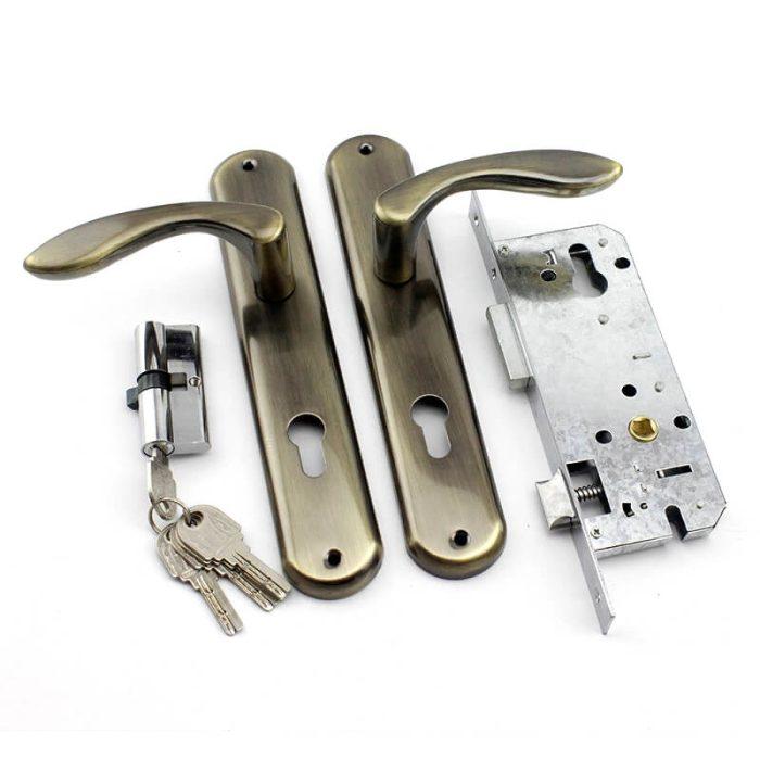 Africa black iron door locks antique entry door lock antique door hardware