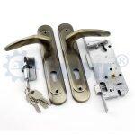 Africa black metal door handles with locks security door locks exterior door hardware