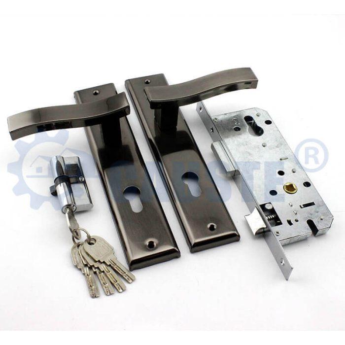 Iron main door locks aluminum door lock types exterior door knob plate