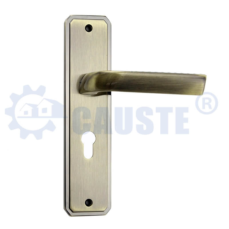 High Quality Antique Color Interior Office Simple Zinc Alloy Doors Handle Locks