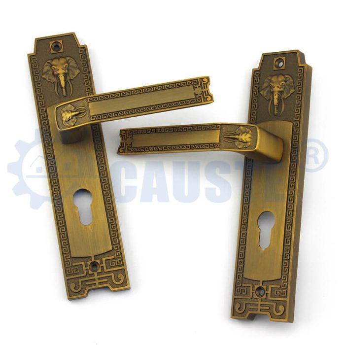 Zinc Alloy Handle Square Plate Interior Entrance Mortice Handle Door Lock