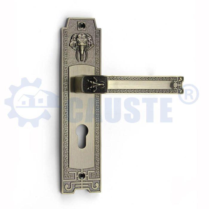 China Manufacturer Antique Zinc Alloy Handle Fancy Design Bedroom Mortice Door Lock