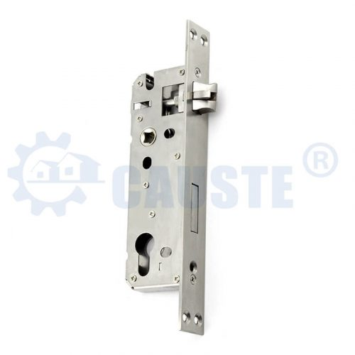 Wide faceplate stainless steel door lock body fancy aluminum door lock machine lockcase