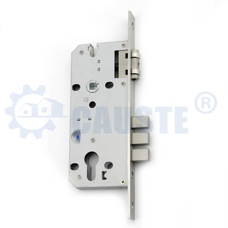 Stainless steel sliding lock body double open door lock body